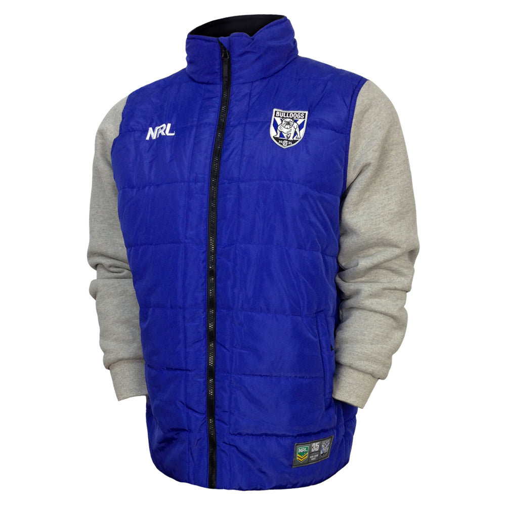 NRL Bulldogs Puffer Fleece Jacket