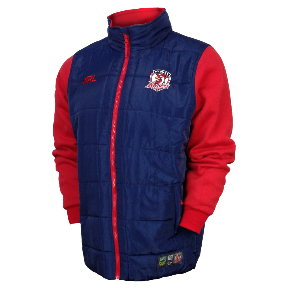 NRL Roosters Puffer Fleece Jacket