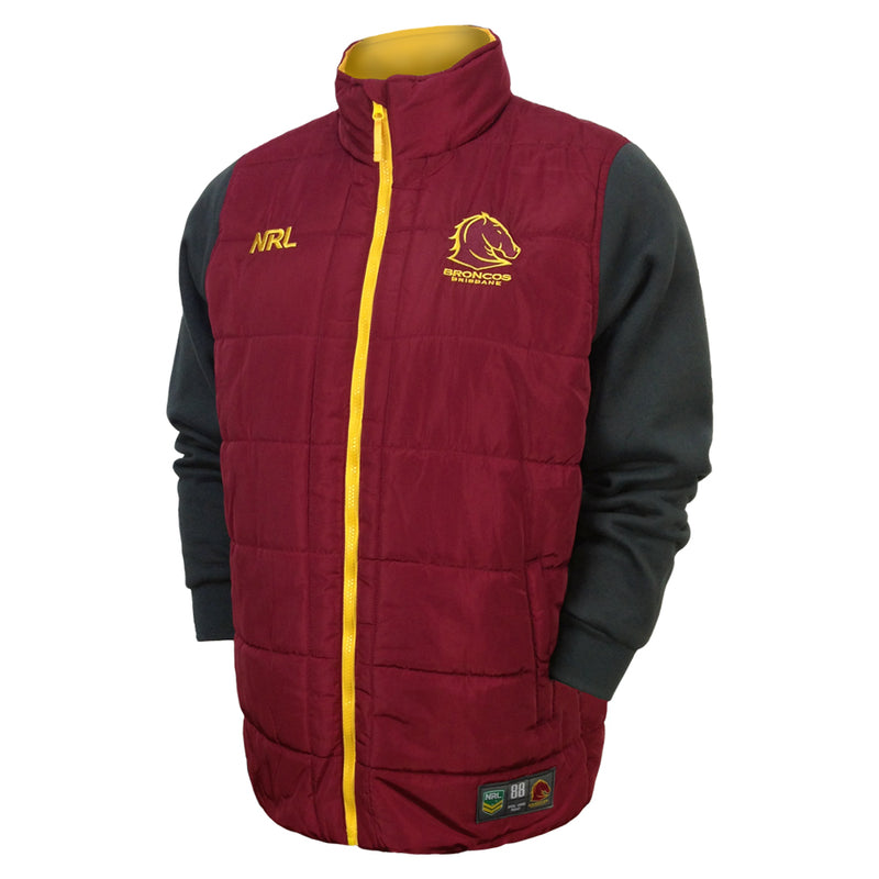 NRL Broncos Puffer Fleece Jacket