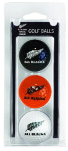 All Blacks Golf, 3 Ball Pack Coloured