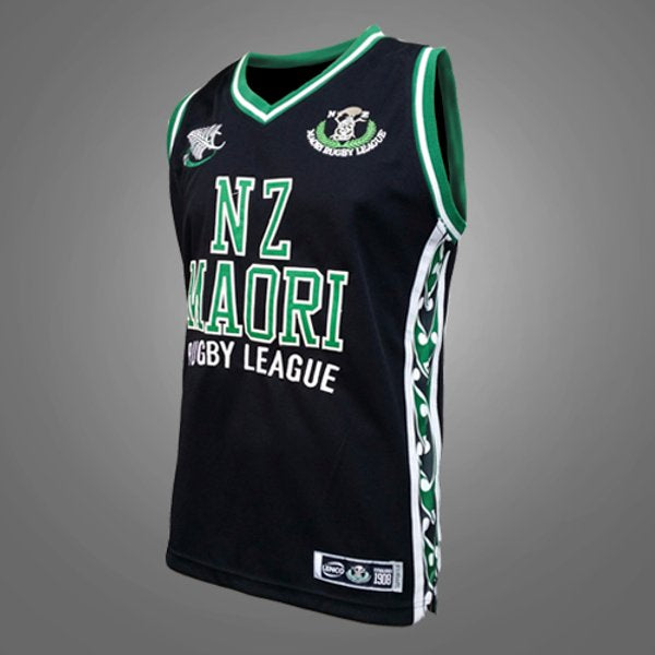 NZ Maori Rugby League Kids Courtside BB Singlet