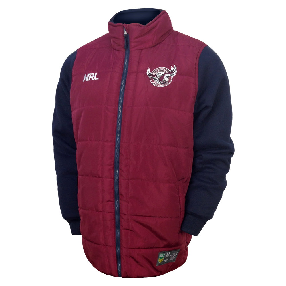 NRL Manly Puffer Fleece Jacket