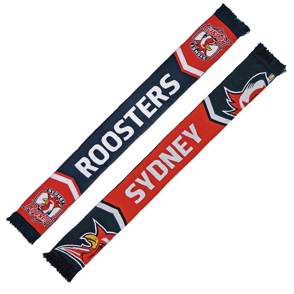Roosters Cleave Jacquard Scarf
