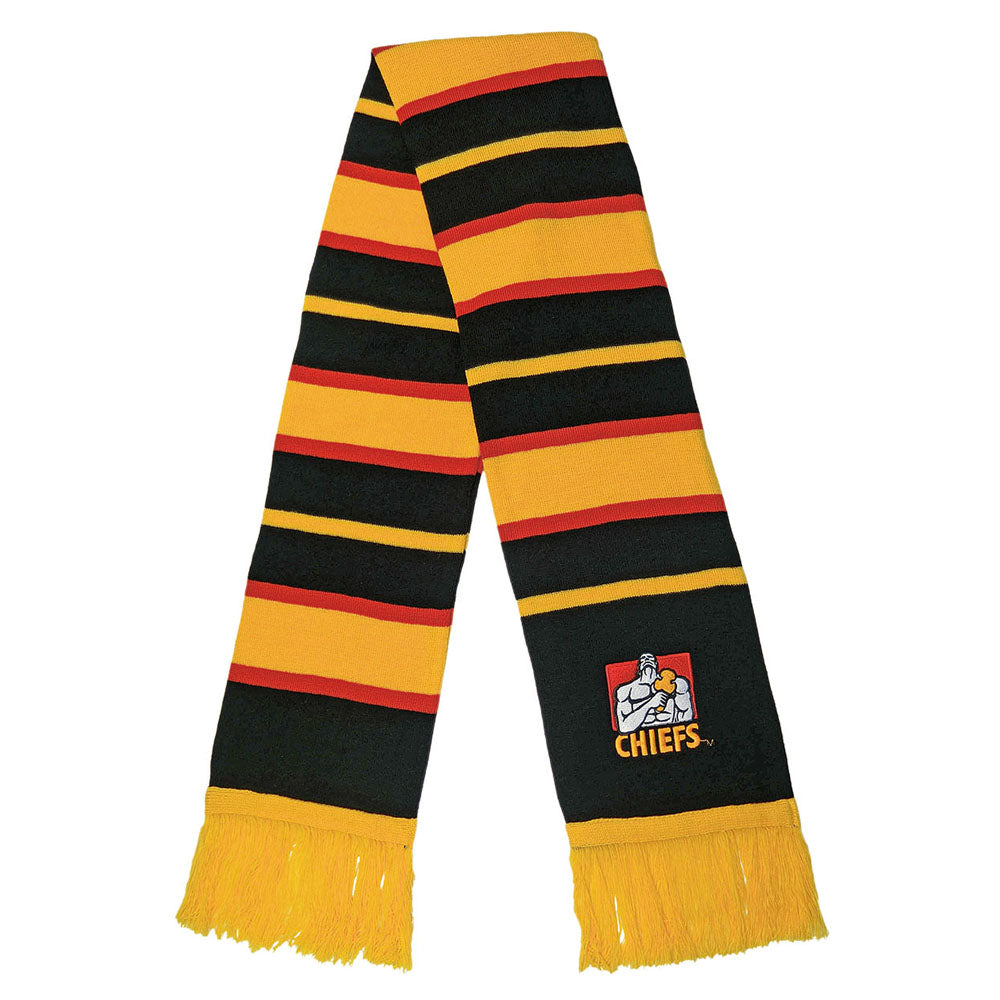 Chiefs Embroidered Striped Scarf