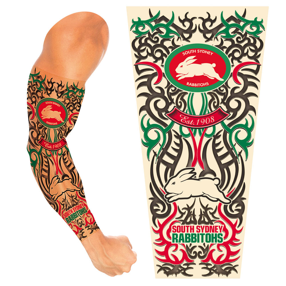 Rabbitohs Adult Tattoo Sleeve