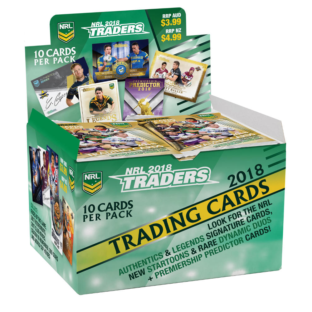 2018 NRL Traders - Box (36 Packets)