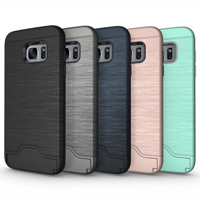 Samsung Galaxy S7/S7 Edge Armor Hybrid Case w/Kickstand & Card Holder