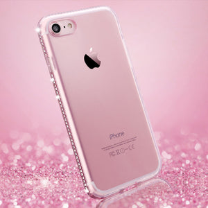 FREE Luxury Diamond Transparent iPhone Case
