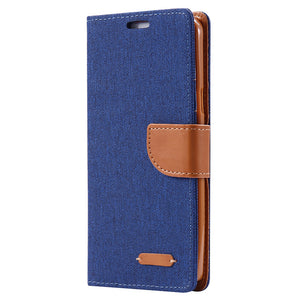 Cloth Samsung Galaxy Magnetic Wallet Flip Case