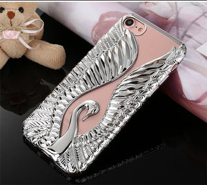 Luxury Gold Plating Beautiful Swan iPhone Case