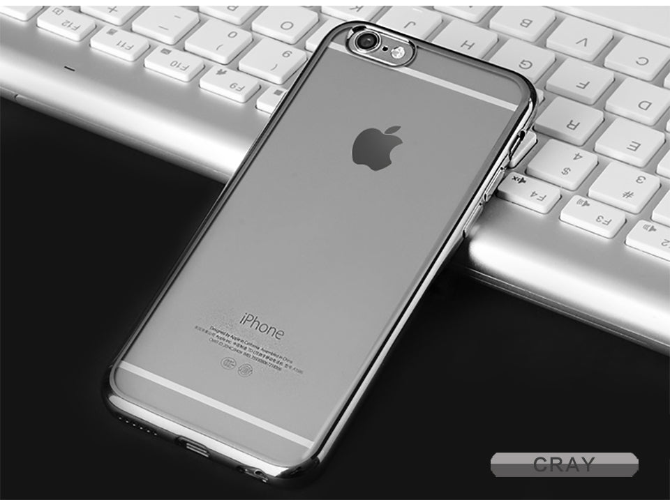 Transparent Glossy iPhone 6/6s Plus Case