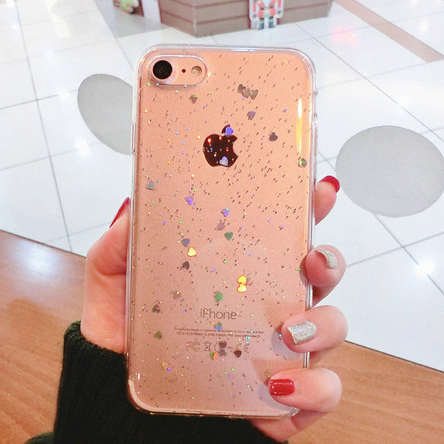 Shining Hearts iPhone Case