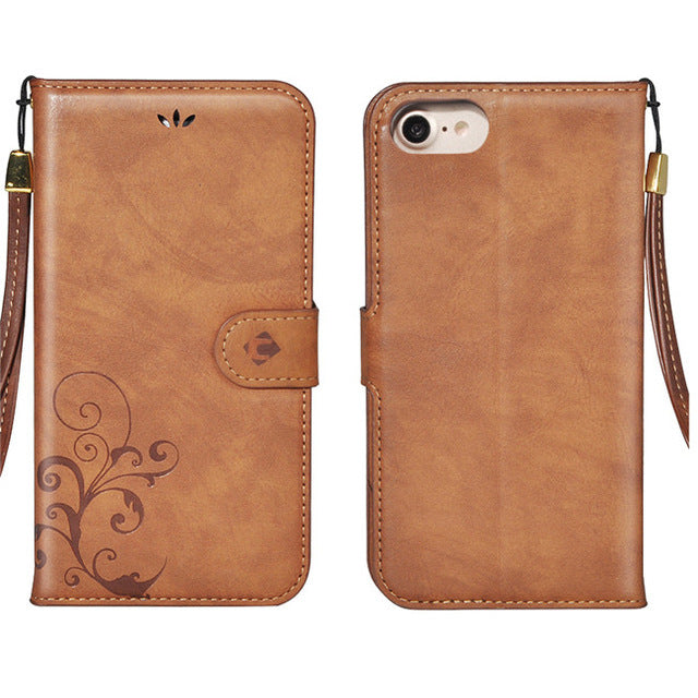 Leather iPhone 7/8 Wallet Flip Case