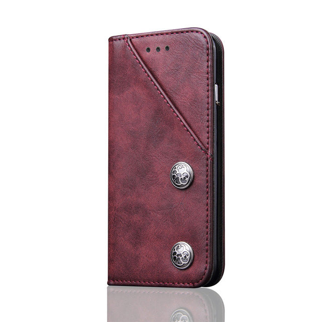 iPhone X Leather Flip Book Case