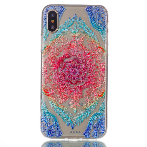 Ultra Thin Transparent Multi-Colored Pattern iPhone X  Case
