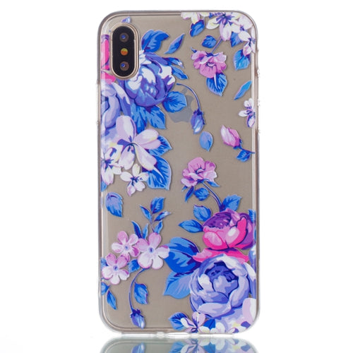 Ultra Thin Transparent Colorful Flower iPhone X Case