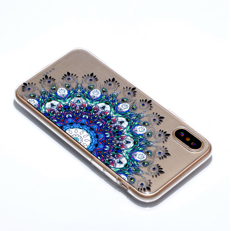 Ultra Thin Transparent Colorful Pattern iPhone X Case
