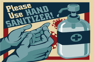 Please Use Hand Sanitizer Vintage