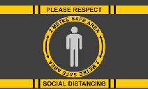 Please Respect Social Distancing Safe Area