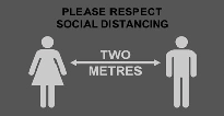 Please Respect Social Distancing Couple