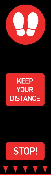 Keep Your Distance Red Stop