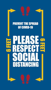 Please Respect Social Distancing Prevent Spread