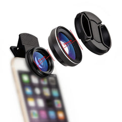 Mobile Phone Lens 15X Macro Lens for Smartphone Anti-Distortion 0.6X Wide Angle Lens Optical Glass Mobile Phone Camera Lens Kit