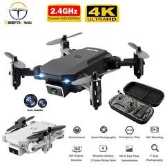 New Mini RC drone 4K HD camera WiFi Fpv air pressure altitude maintenance 15 minutes battery life foldable Quadcopter toy