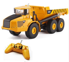 RC Dump Truck 6CH Remote Control Big Dump Truck Engineering Vehicles Loaded Sand Carrier Vehicle Model Toys