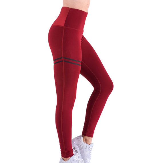 Women High Waist Anti-Cellulite Compression Slim Leggings for Fitness JL