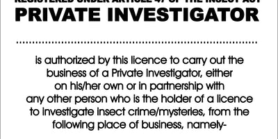 Insect Investigator - License