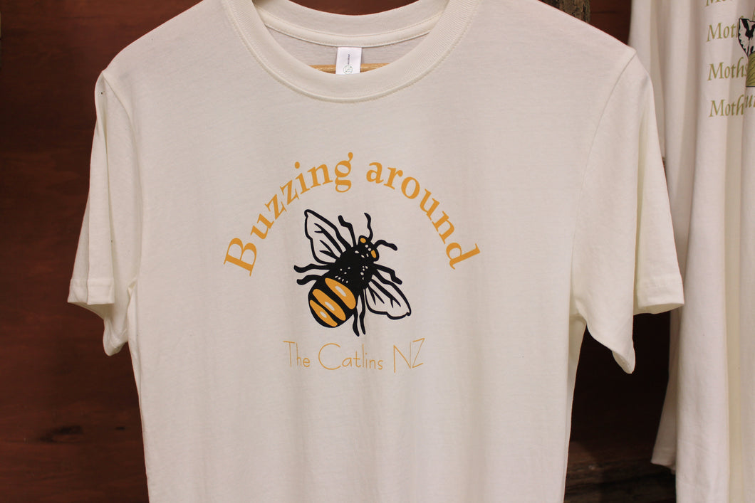 Organic T-Shirt- Buzzing Around The Catlins.