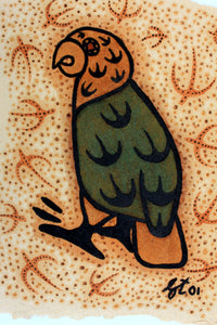 Organic art paintings - Kea - handcrafted in The Catlins New Zealand