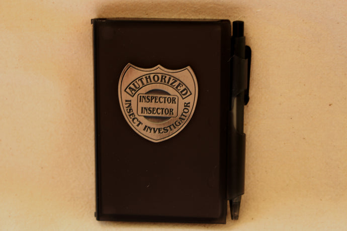 Inspector Insector Badge and Notebook