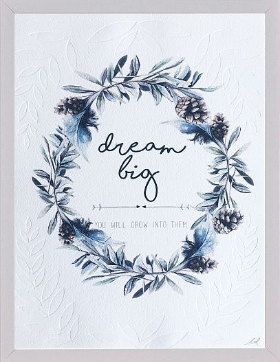 'dream big' illustrated typo