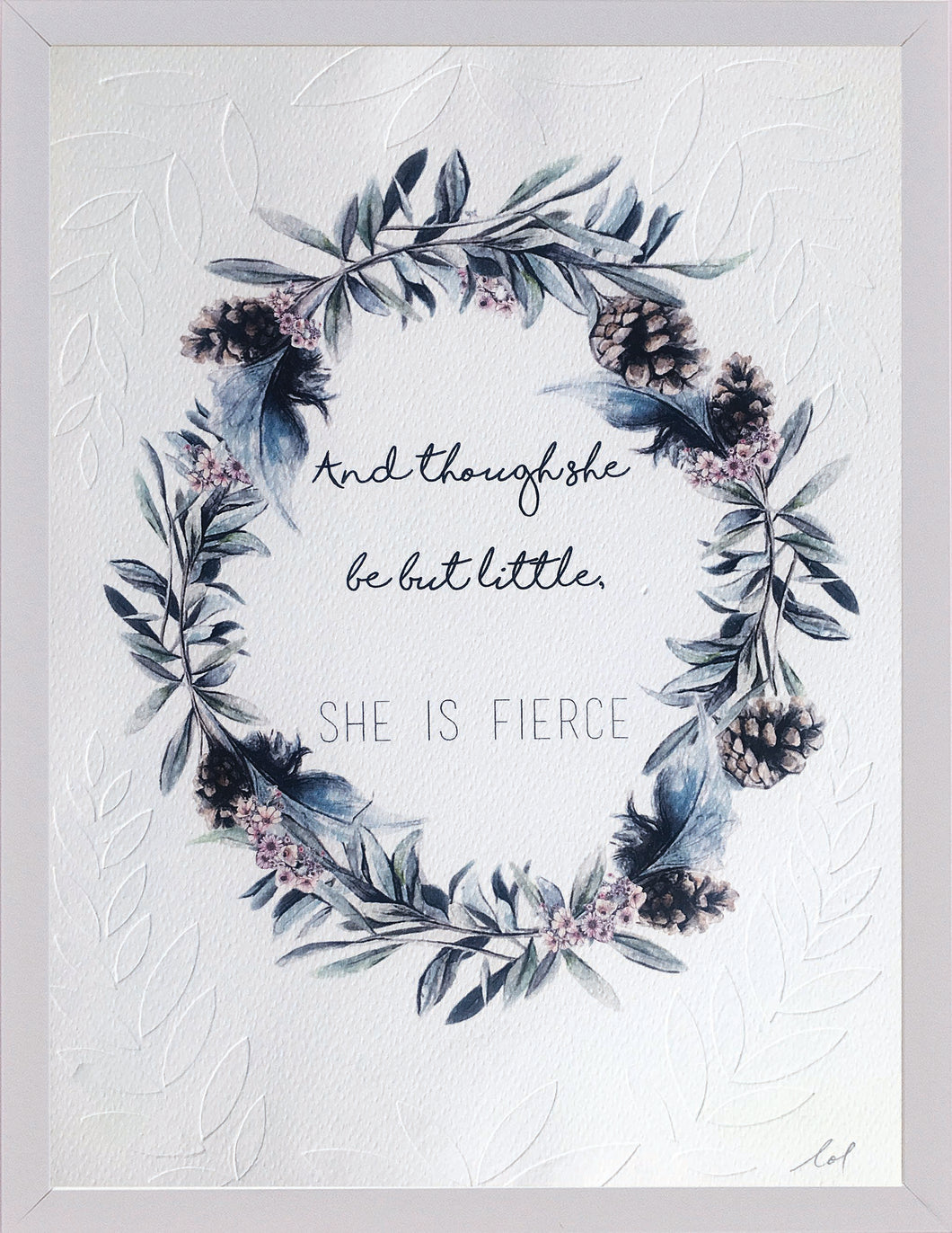 'and though she be' illustrated typo