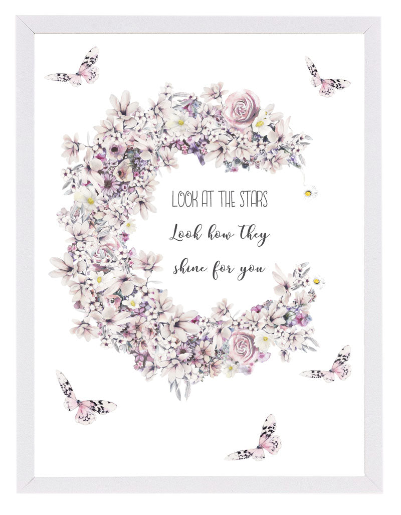'look at the stars' poster print