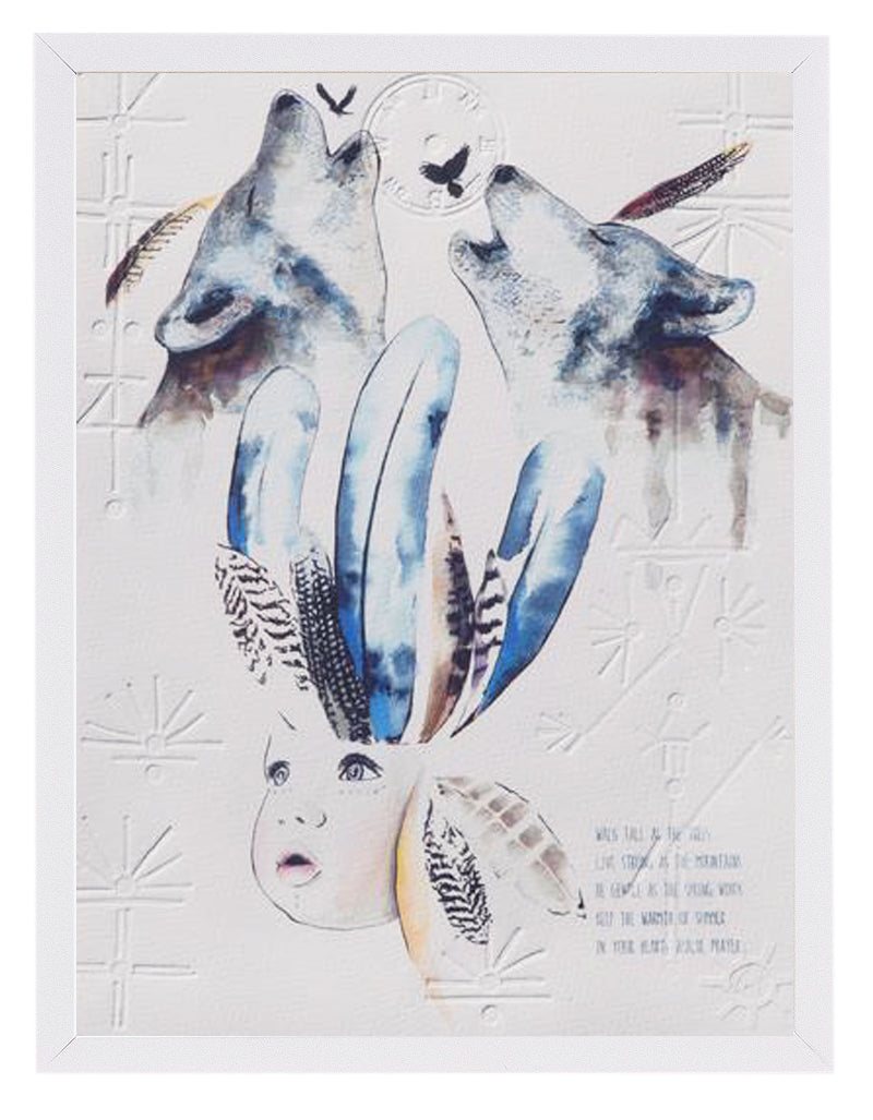 'wolf spirit' print (blues)