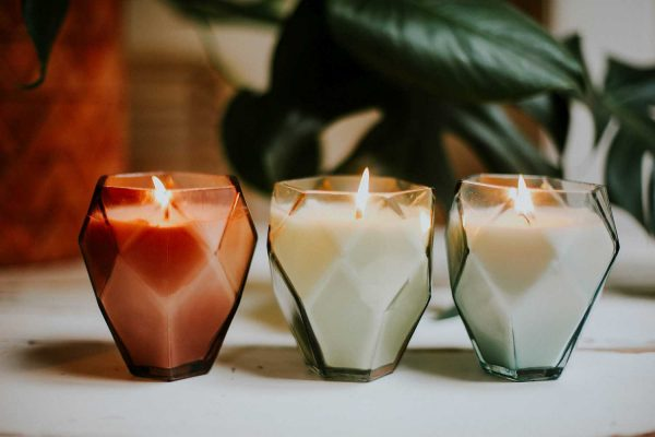 diamond shaped soy candles