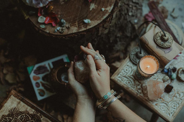 Re-charging crystals - full moon ritual