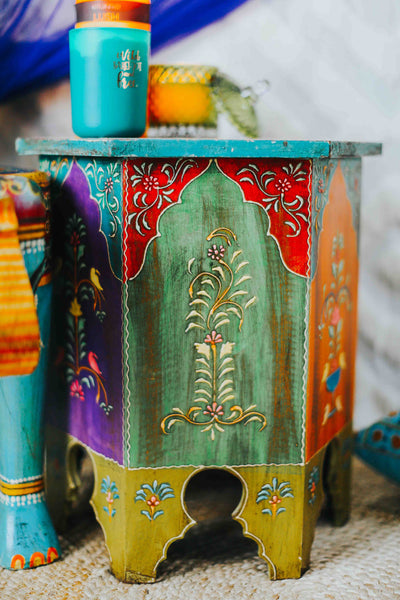 ISHKA Handpainted Chai Table