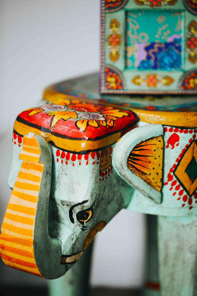 ISHKA Elephant Handpainted Table