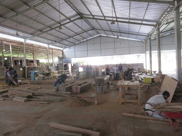 Teak furniture factory
