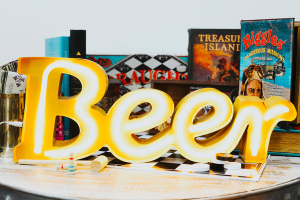 ISHKA Father's Day gifts - neon beer sign