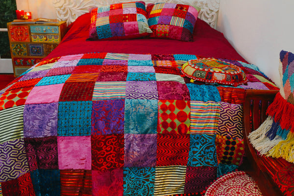 ISHKA Patchwork throw