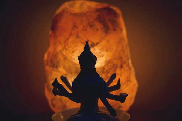 Salt lamp and Shiva