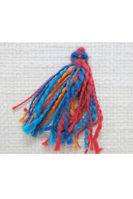 Red & Turquoise Leni Tassel Cushion