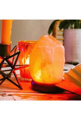 Mini USB Salt Lamp - Orange