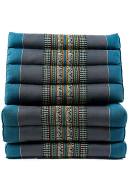 Blue & Grey Large Thai Cushion