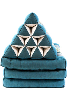 Blue And Grey Thai Triangular Floor Cushion